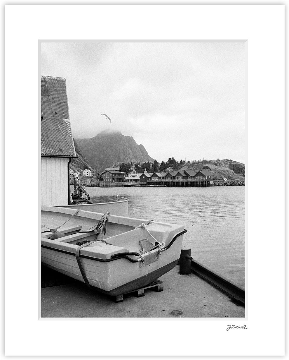 Lofoten Harbor Scene